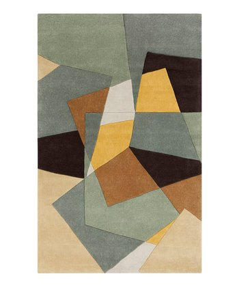 Sage & Yellow Color Block Cosmopolitan Rug