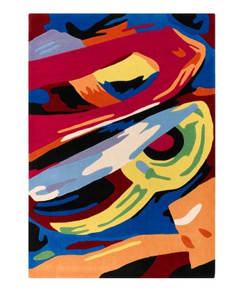 Abstract Brushstroke Rug