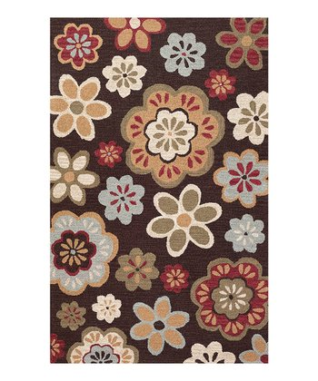 Chocolate & Gold Foundation Wool Rug