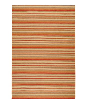 Sienna & Golden Raisin Frontier Wool Rug