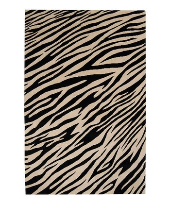 Zebra Mugal Wool Rug