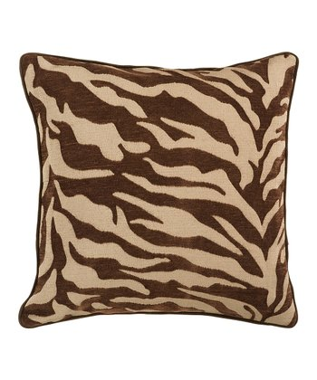 Espresso Zebra Stripe Pillow