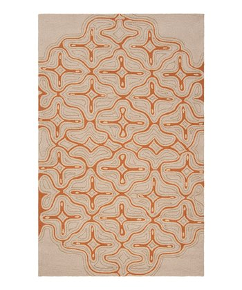 Pecan & Khaki Labrinth Indoor/Outdoor Rug