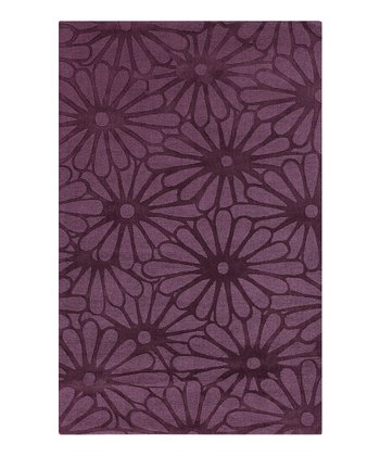 Grape Floral Mystique Wool Rug