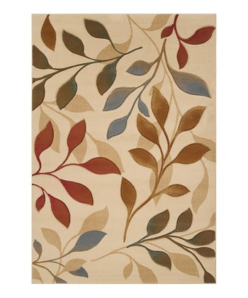 Blonde & Dark Khaki Leaf Majestic Rug