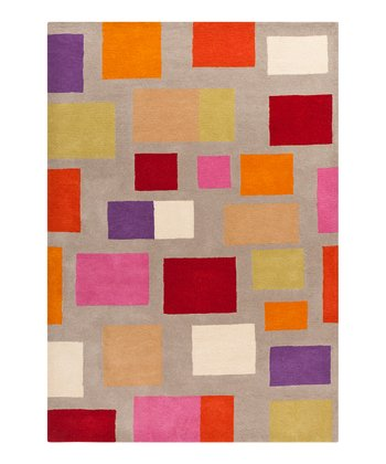 Gray & Rose Scion Wool Rug
