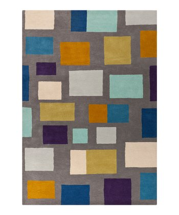 Slate Gray & Teal Scion Wool Rug