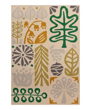 Putty & Sea Green Scion Wool Rug