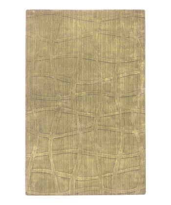 Split Pea Weave Sculpture Wool Rug