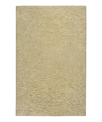 Split Pea Floral Sculpture Wool Rug