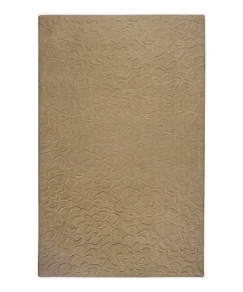 Brindle Floral Sculpture Wool Rug