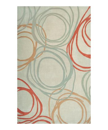 Parchment & Burnt Orange Sprint Rug