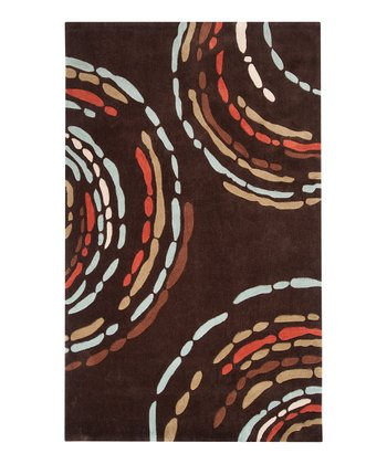Dark Brown & Burnt Orange Sprint Rug