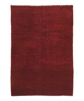 Red Shadow Wool Rug