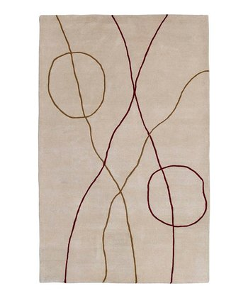 Golden Brown Studio Wool Rug