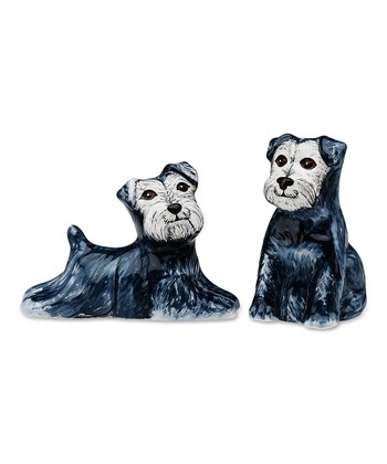 Isabelle & Randy Schnauzer Salt & Pepper Shaker Set