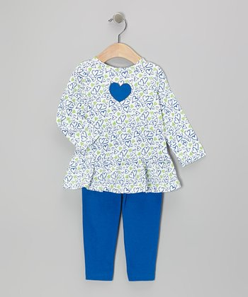 Navy Hearts Tunic & Leggings - Infant & Toddler