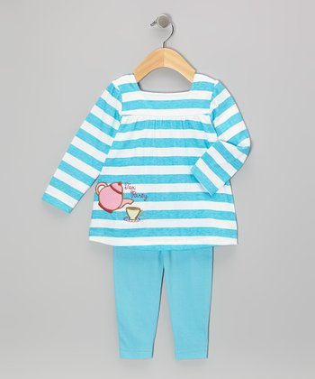 Blue Stripe Tea Party Tunic & Leggings - Infant & Toddler