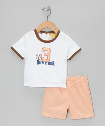 Mayfair White Baseball Tee & Shorts - Infant