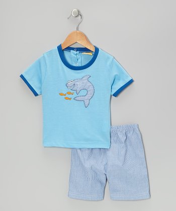 Mayfair Blue Fish Tee & Shorts - Infant & Toddler