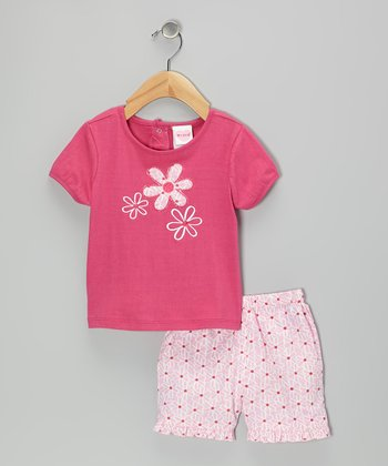 Pink Flower Tee & Shorts - Infant & Toddler