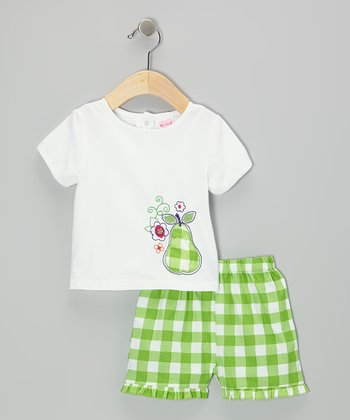 Mayfair White Pear Tee & Shorts - Infant
