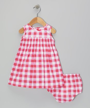 Pink Plaid Dress & Diaper Cover - Infant