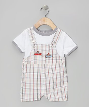 Mayfair White Tee & Boat Shortalls - Infant