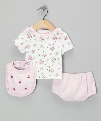 Mayfair Pink Blossom Diaper Cover Set - Infant