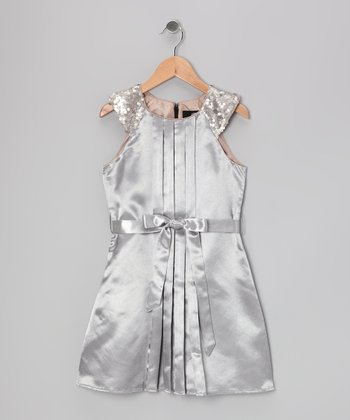 Silver Lana Dress - Girls