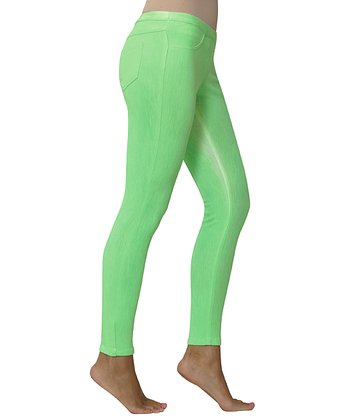 Neon Green Spray Paint Leggings