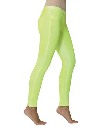 Neon Yellow Spray Paint Leggings