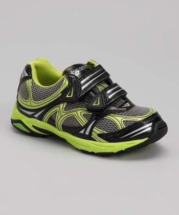 Jumping Jacks Citron & Gray Spider Sneaker