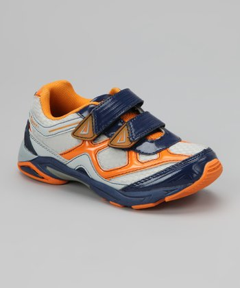 Navy & Orange XYZ Sneaker