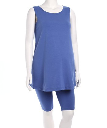French Blue Maternity Tunic & Shorts