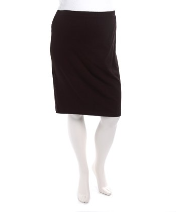 Brown Maternity Pencil Skirt