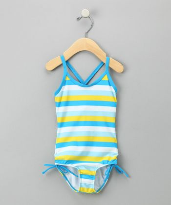 Blue Petal Pop One-Piece