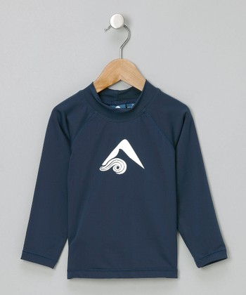 Navy Platinum Rashguard - Toddler & Boys