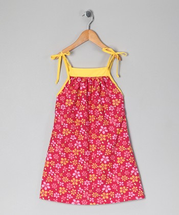 Pink & Yellow Floral Dress - Toddler & Girls
