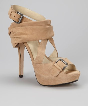 Camel Scalise Leather Sandal