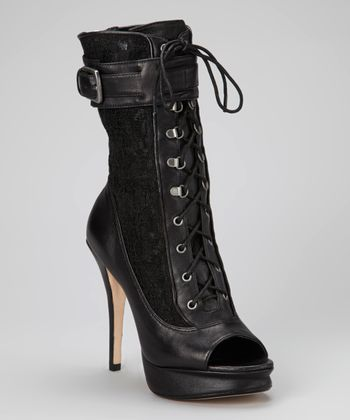 Black Rastelli Peep-Toe Boot