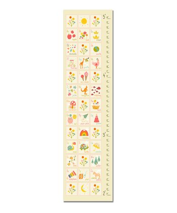 Cream & White ABC's Growth Chart