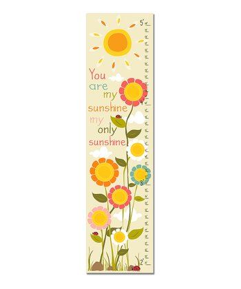 Pink 'You Are My Sunshine' Growth Chart
