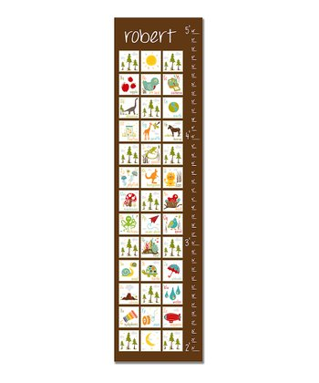 Brown & White ABC's Personalized Growth Chart