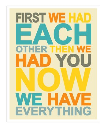 Yellow & Blue 'First We Had' Giclée Print