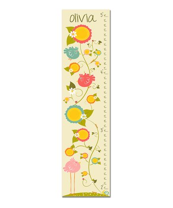 Pink Little & Large Personalized Growth Chart