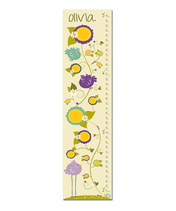 Purple Little & Large Personalized Growth Chart