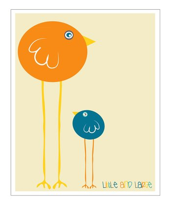 Blue & Orange 'Little and Large' Giclée Print