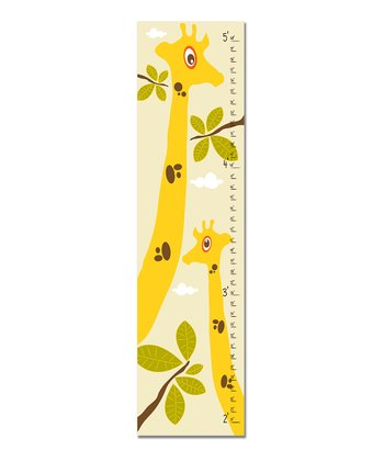 Cream Giraffe Growth Chart