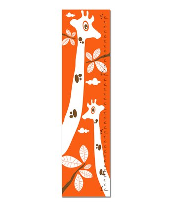 Orange Giraffe Growth Chart